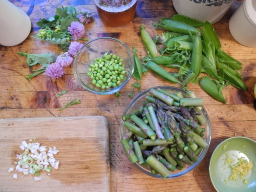 Pasta with Spring Vegetables –